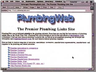 PlumbingWeb website in 1997