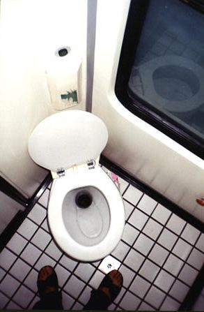 First Class Train Car Toilet - Ankara Ekspresi