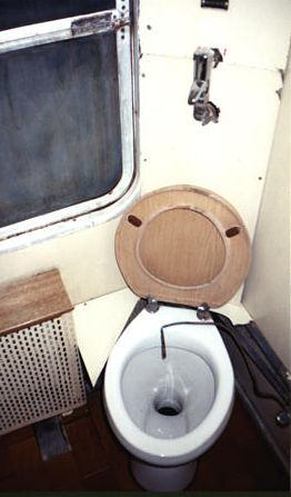 First Class Train Car Toilet - Izmir Ekspresi